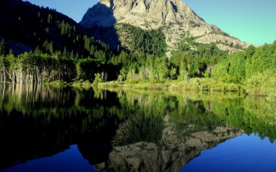 Mount Scowden reflection on Lake Lundy 2010