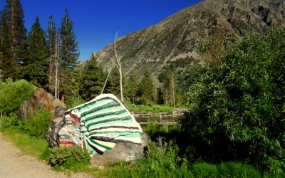 Loyal Jim's Indian in Lundy Canyon